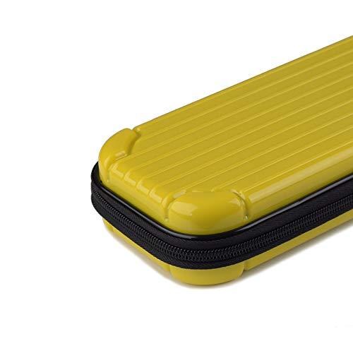 Sxgyubt tragbare Aufbewahrungsbox für Switch Lite PC-Spielkonsole, wasserdicht, stoßfest, gelb, One size