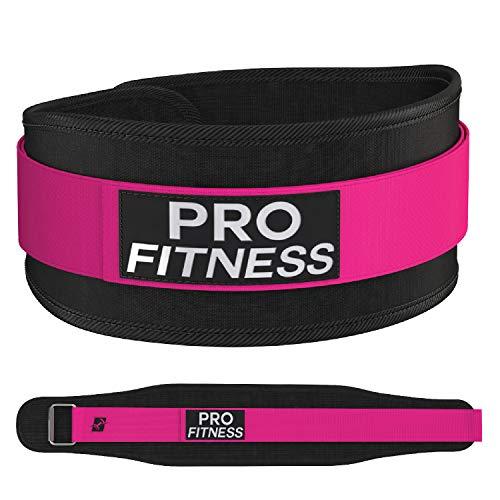 ProFitness Weight Lifting Belt 3 (Medium, Black/Pink)