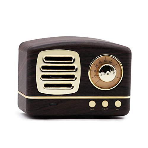 Hirkase Altavoz Bluetooth, Altavoz Inalambrica Bluetooth, Bluetooth 4.1 Altavoz inalámbrico, Estereo, al Aire Libre, con HD Audio, Llamadas Manos Libres y TF Ranura de La Tarjeta, Grano de Madera
