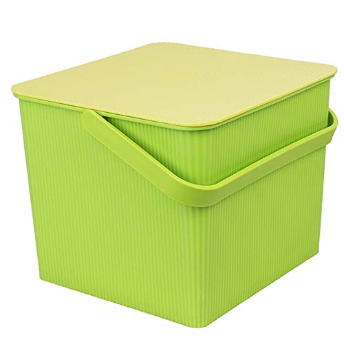 Life Story Panier Rangement En Plastique - Sac A Linge - Bac Rangement Plastique - Parfait Pour Deco Chambre Enfant - Multifonction ZHANGQIANG (Couleur : Green, taille : Carré)