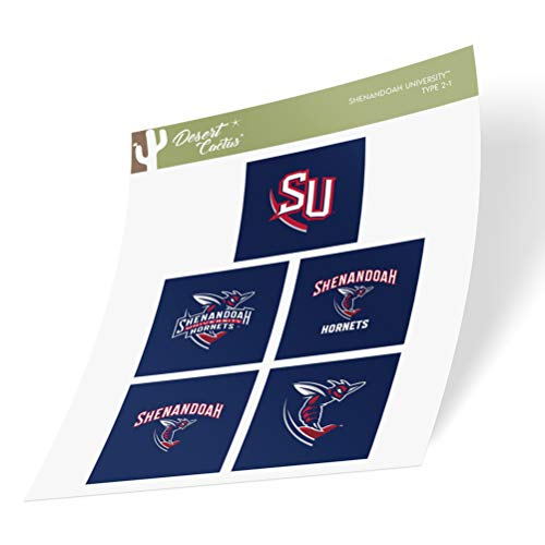 Shenandoah University The Hornets Sticker Vinyl Decal Laptop Water Bottle Car Scrapbook (Type 2 Sheet)