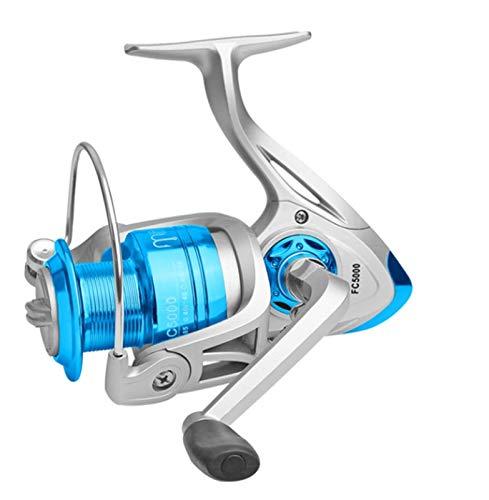 RongWang Carrete De Pesca FA1000-6000 Sin Espacio Carrete De Metal Arrastre Máximo 8KG Carrete Giratorio De Lucio Alta Velocidad 5.2: 1 Carrete Equipo De Pesca (Color : B, Size : 1000 Series)