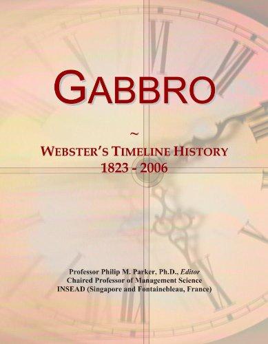Gabbro: Webster's Timeline History, 1823 - 2006