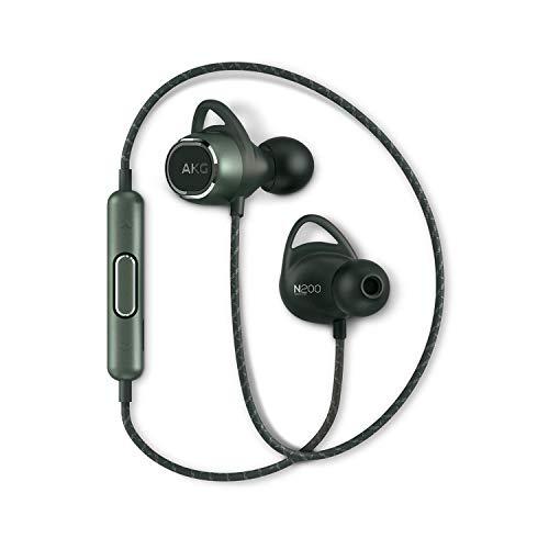 【AKG公式ストア】AKG ワイヤレスイヤホン N200 WIRELESS Bluetooth AAC SBC aptX 対応 オリジナルステッカー付き AKGN200BT (グリーン)