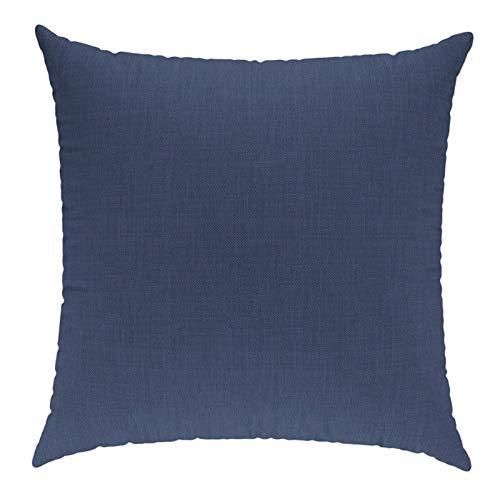 sunnypillow Coussin Décoratif pour Canapé Palette Intérieur/Extérieur Oreiller 40 x 40 cm plusieures Tailles et Couleurs à Choisir Bleu foncé