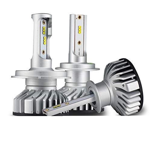 2 PCS 60W 12000LM CANBUS H4 H7 4300K 5000K 6500K LED Mini Faros de Coche H1 H3 H8 H9 H11 9005 9006 Anti EMC Auto Lamp 12V (Emitting Color : 5000K, Socket Type : 9005)