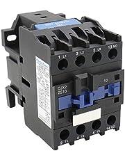 Heschen AC Contactor CJX2-2510 bobina de 220V 50/60Hz 3P 3 polos normalmente abierto 660V Ie 25A Ue 380V