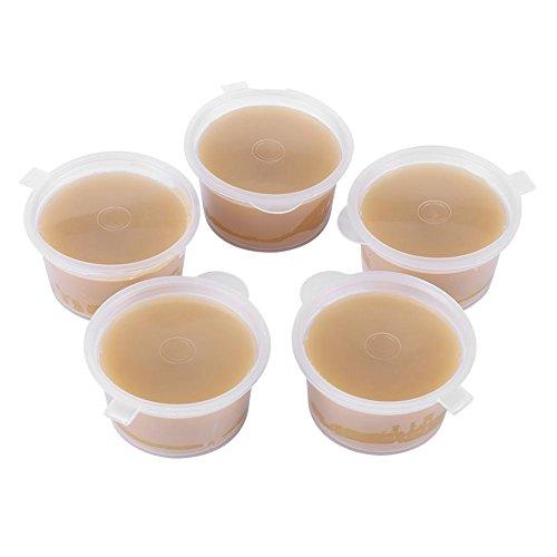 Cera de abejas natural, 5 piezas × 20 g Pellets orgánicos naturales No tóxicos Cera de abejas pura Cera de abejas de grado alimenticio Materiales cosméticos para jabón de velas Lápiz labial