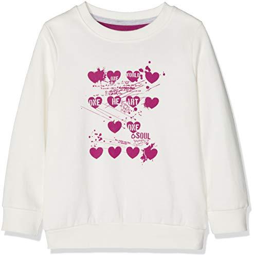 Kanz Kanz Mädchen 1/1 Arm Sweatshirt, Weiß (Snow White 1050), 122