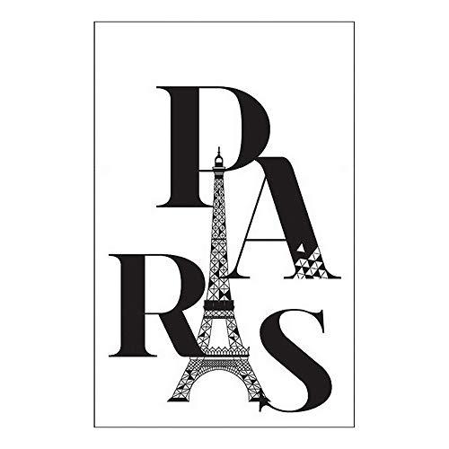 Draeger - Sticker Mural - Sticker Tour Eiffel pour décorer facilement votre intérieur - Adhésif Déco sérigraphié sur film polyester - L20,5 x H28 cm Paris