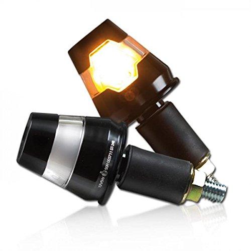 Universal Motorrad Lenkerenden - LED Blinker Conic schwarz 7/8