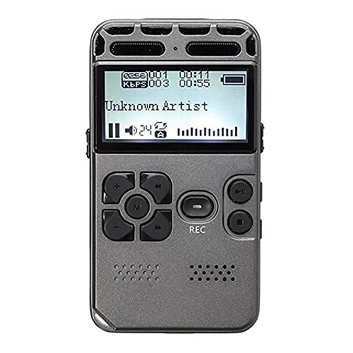 8G Ricaricabile LCD Digitale Audio Registratore Vocale Dittafono Lettore MP3 per Lezioni Riunioni Riduzione del Rumore