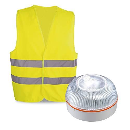 HELP FLASH PK2681 Notfalllicht, Warnsignal + Taschenlampe, DGT, V16, Magnetbasis, automatische Aktivierung und als Geschenk, mit reflektierendem Gehäuse, Chaleco Homologado