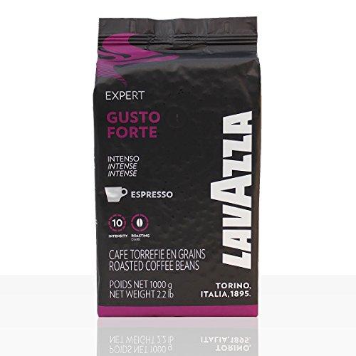 Lavazza Expert Gusto Forte Espresso - 1kg ganze Kaffee-Bohne, 100% Robusta