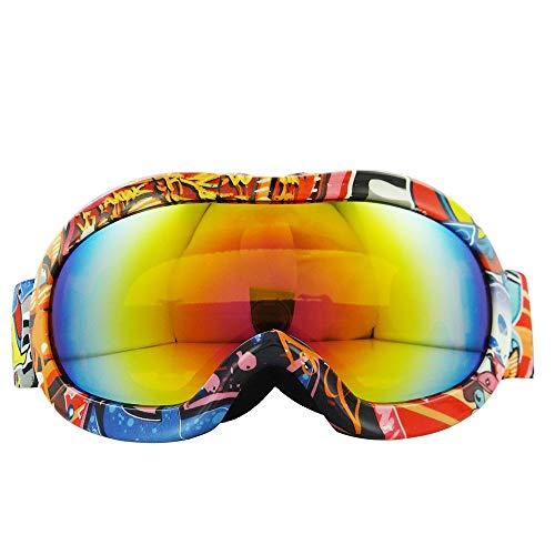 Yi-xir diseño Clasico Montañismo para niños Montañismo Snow Mirror Anti-Niebla Gafas de esquí Twofold Visor Invierno Sports Ski Goggles Supplies Moda (Color : 2, Size : 160 * 80mm)