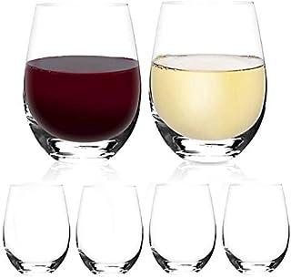 [6Pack, 535ml/18onces]DESIGN·MASTER-Verres à vin classiques sans pied, verres à boire sans plomb, idéaux pour le vin rouge...