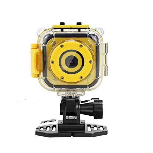 HJJH Videocamera Impermeabile per Bambini con videoregistratore Videocamera Digitale per Videogiochi, Action Cam, Giallo per Il Pattinaggio su Pista da...