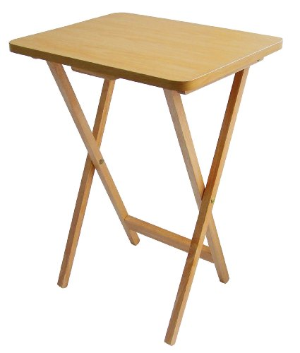 Premier Housewares Folding Snack Table, Laptop Table Natural Wood Folding Table Outdoor Table Camping Table Fold Up Table Camping Table Folding 65 x 49 x 20