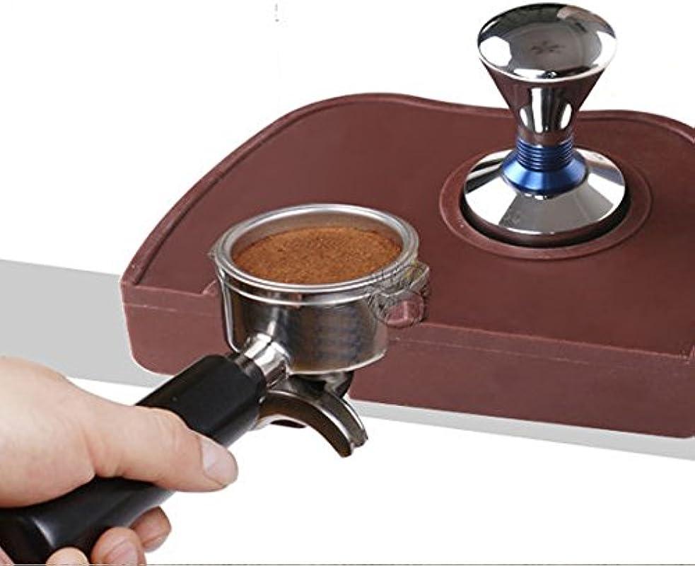 Espresso Tamping Mat Tamper Holder Dropped Edge Corner Silicone Non Slip Barista