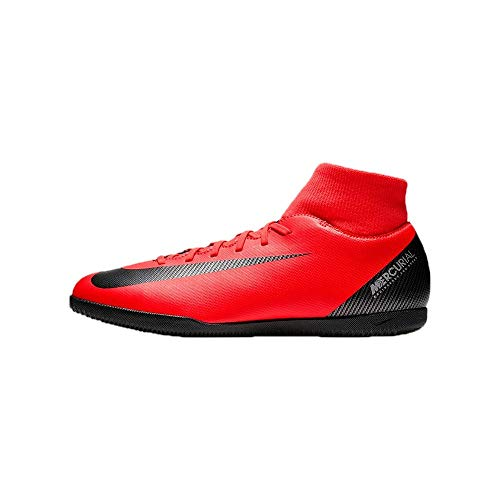 Nike Superfly 6 Club Cr7 IC, Scarpe da Calcetto Indoor Unisex-Adulto, Multicolore (Bright Crimson/Black/Chrome 600), 44.5 EU