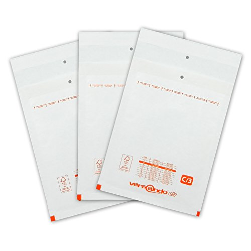 100 Luftpolsterversandtaschen Luftpolsterumschlaege Groesse C/3 von Versando Ideal zum Versenden von CD und Wiederverschliessbar auch als Warensendung