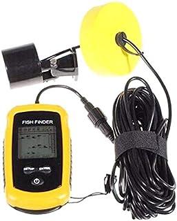 AFSDF Portátil Sonar Sensor Handheld Wired Fish Finder Fishfinder Capturando la Alarma de transductora con DISPALIDAD LCD