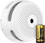 X-Sense Minialarma y Detector de Humo inalámbricos, Detector de Humo inalámbrico e interconectado con baterías reemplazables, Se conforma al estándar EN 14604, XS01-WR, 6 Piezas