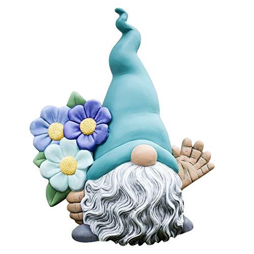 LoveLeiter Gartenzwerg Wichtel Gartendeko Lustige Garten Deko Figuren für Außen Gartenwichtel Gartendeko Figuren Dwarf Skulptur Gartenzwerg Statue Gartenfigur aus Harz Dekor Geschenk