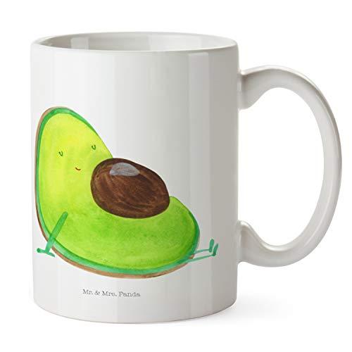 Mr. & Mrs. Panda ontbijt, koffiekopje, beker Avocado zwanger - Kleur Wit