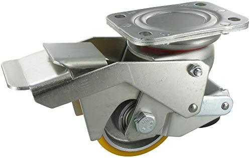 Heberolle Feststellrolle Rad 80mm Polyurethan Kugellager Tragfähigkeit: 400KG
