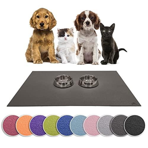 Sanosoft SanoZoo Napfunterlage - Öko-TEX - Made in Germany - Futtermatte für Hunde & Katzen (40 x 60 cm, Schwarz)