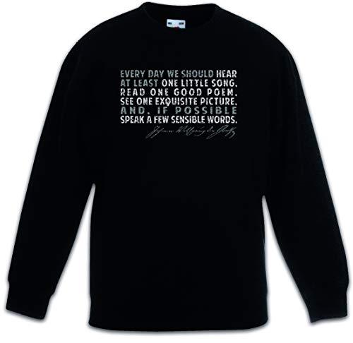 Urban Backwoods Goethe Every Day Kinderen Jongens Meisjes Sweatshirt Pullover Trui Schwarz