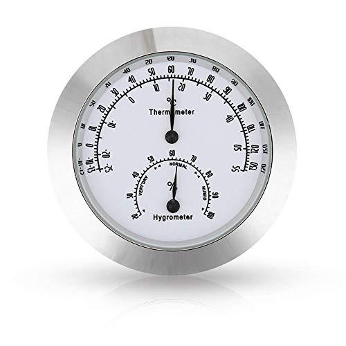 KANUBI Thermo-Hygrometer, Thermometer, Mini-Metall-Hygrometer, Thermo-Hygrometer und Hygrometer, Gitarren-Klavier Violine Zubehör Thermo-Hygrometer Edelstahlgehäuse