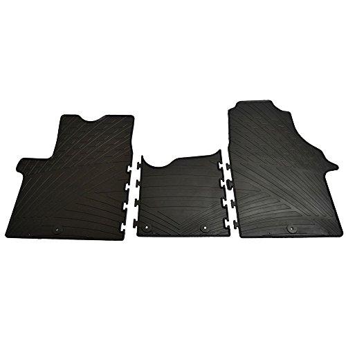 Gledring Set tapis de caoutchouc compatible avec Renault Traffic & Opel Vivaro 2014-2019 / Fiat Talento & Nissan NV300 2016- (TK profil 3-pièces + clips de montage)