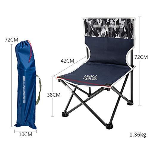 Lw outdoor Léger Chaise de Camping Chaise Pliante carrée légère portative de Tabouret Robuste pour la pêche Pique-Nique avec Le Sac (Couleur : C2)