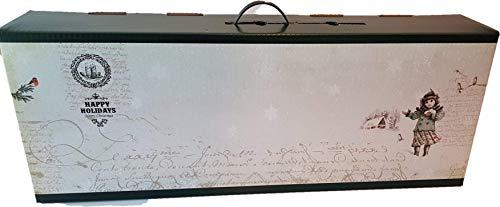 Caja para jamón | Caja de cartón para paleta de jamón | 30x79x14cm | Estilo Navideño | 5...