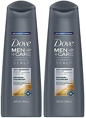 Dove Men + Care Dermacare Scalp - Anti-Dandruff Shampoo + Conditioner 2 in 1 - Dryness + Itch Relief - Net Wt. 12 FL OZ (355 mL) Per Bottle - Pack of 2 Bottles
