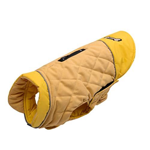 FEGOCLT Chaqueta de Perro Reversible Impermeable de Invierno Abrigos de Perro Caliente de Invierno Elástico de la Mascota de la Ropa para pequeños Trajes de Perros Grandes medianos (Size : M Code)