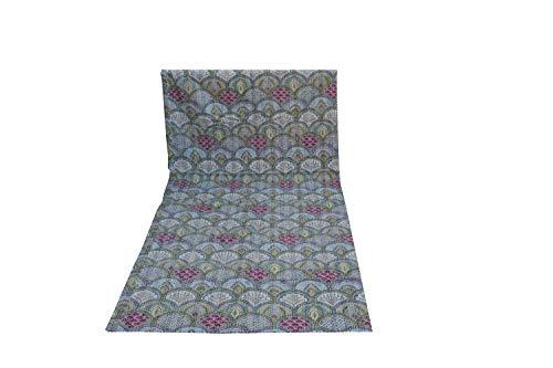 Colcha de cama con estampado de arco iris, hecha a mano india, bohemio, de algodón kantha, Kantha Kantha, funda de edredón (gris-01, doble 6090 pulgadas)