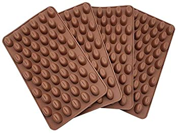 4PCS Mini Coffee Beans Chocolate Mold Silicon Mold Small Candy Mold Hard Candy Mold Baking Mold DIY Cake Decorating.