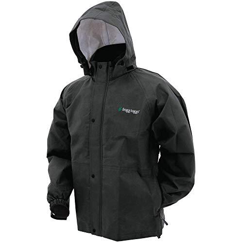 Frogg Toggs Men's Bull Frogg Rain Jacket,Black,X-Large