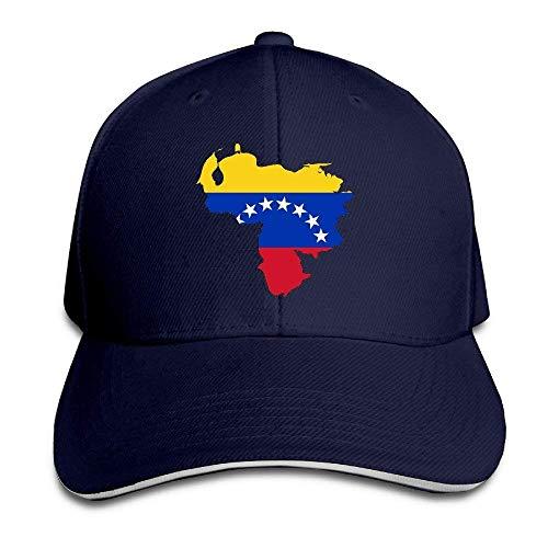 Bgejkos Venezuela Bandera Mapa Algodón Adulto Sándwich Gorra de Pico Sombrero Deporte Regalo QW449