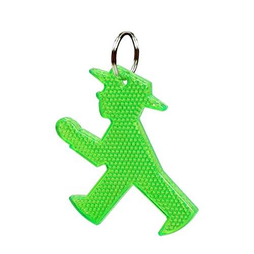 AMPELMANN Schlüsselanhänger Reflektor Erwachsene Kinder Strahlemann (Geher - Grün)