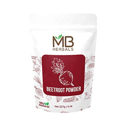 MB Herbals Beet Root Powder 227g (8oz) 0.5lb | Dehydrated Non GMO | Boosts Stamina Endurance & Athletic Performance