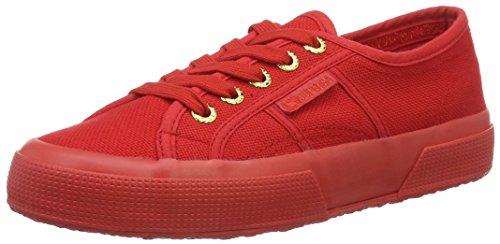 Superga Superga Unisex-Erwachsene Classic Sneaker Low-Top 2750 Cotu Classic, Rot (red-gold), 35 (Herstellergröße: 2.5)
