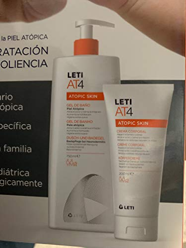 Leti AT4 atopic skin, gel de baño 750ml + crema corporal 200ml