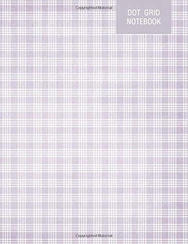 Purple Plaid Cute Scrapbook Dot Grid Journal Notebook: Minimalist   Large size 8.5x11 inches