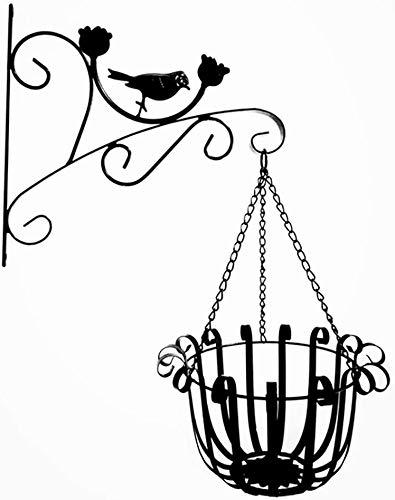 XCJJ hanglamp wandhaken ijzer hangmand vintage voor bloempotten, lichten, borden enz. (met schroeven) 32 * 36cm