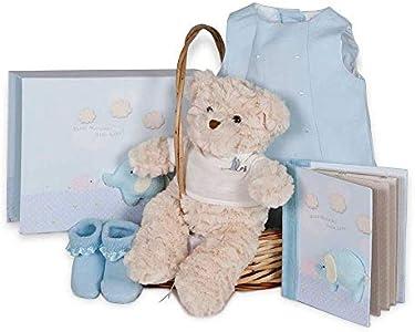 BebeDeParis | Regalos Originales para Bebés Recién Nacidos | Canastilla Ranita Piqué | 3-6 Meses