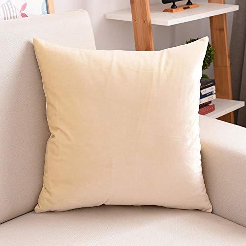 Samt Sofakissen Kissen Schlafzimmer Rückenlehne Wohnzimmer Kissen, beige, 40 x 40 cm